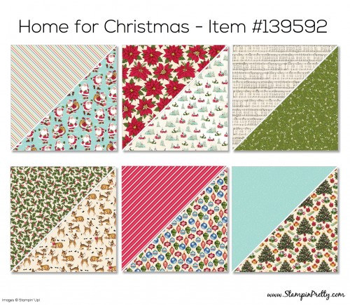 Stampin Up Home for Christmas Designer Series Paper