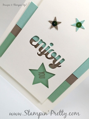 Stampin Up star punch birthday card idea Mary Fish StampinUp demonstrator blog Stampin Pretty Mini Treat Bag Dies