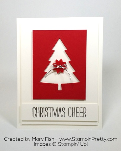 Stampin Up Perfect Pinets Framelits Dies Christmas Card Idea by Mary Fish