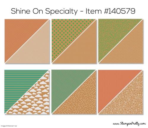 Stampin Up Shine On Designer Series Paper