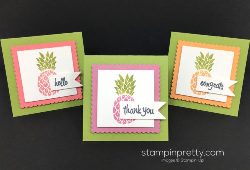 Stampin Up Pop of Paradise Thank You Card - Mary Fish StampinUp