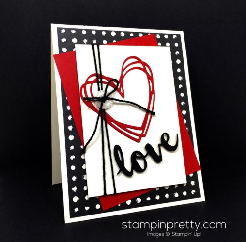 Stampin Up Sunshine Wishes Thinlits Love Card Idea - Mary Fish StampinUp