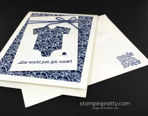 Stampin Up Baby's First Made with Love Baby Card Idea - Mary Fish StampinUp