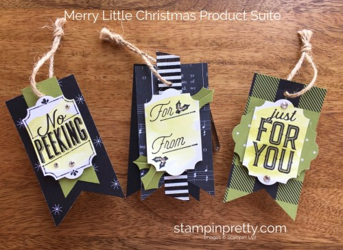 Stampin Up Merry Little Labels Holiday Tag Ideas - Mary Fish StampinUp