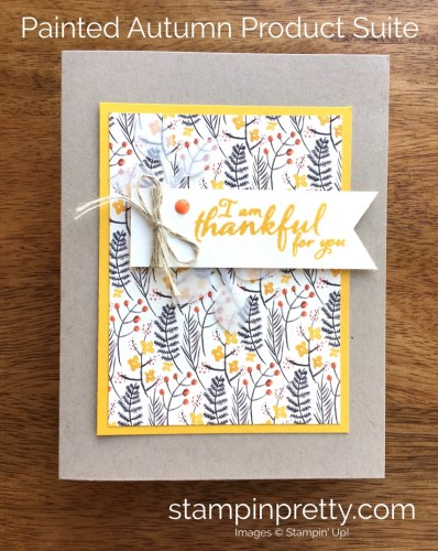 Stampin Up Painted Harvest Thank You Card Idea - Mary Fish StampinUp