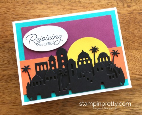 Stampin Up Bethlehem Edgelits Dies Religious Christmas Holiday Card Ideas - Mary Fish StampinUp