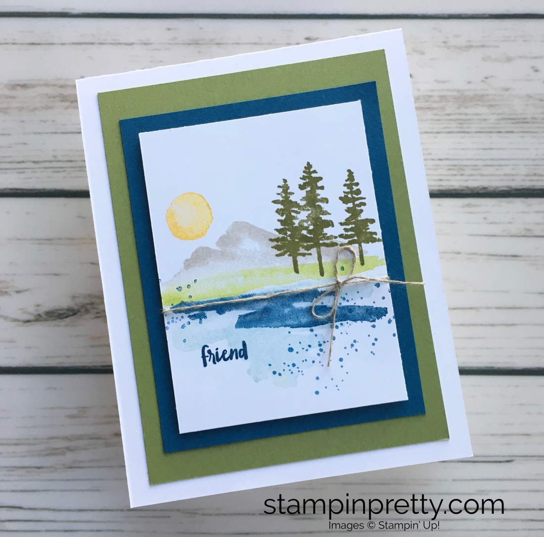NEW Waterfront Stamp Set Friend Card Stampin Pretty