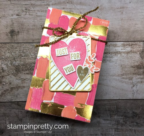 Learn how to create a simple gift box using Stampin Up Lots to Love Box Freamelits Dies - StampinUp Mary Fish