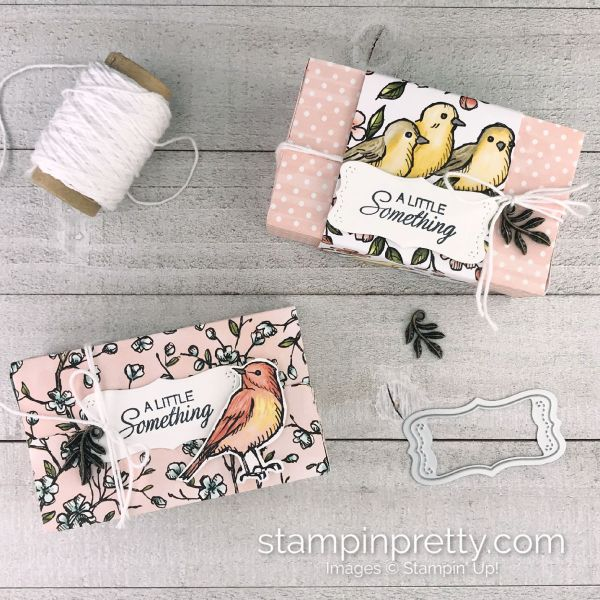 Parcels & Petals & Bird Ballad from Stampin' Up! Gift Box by Mary Fish, Stampin' Pretty