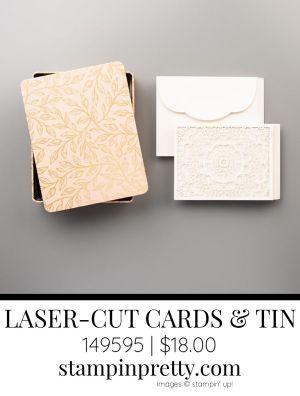 Bird Ballad Laser-Cut Cards & Tin From Stampin' Up! 149595 $18.00