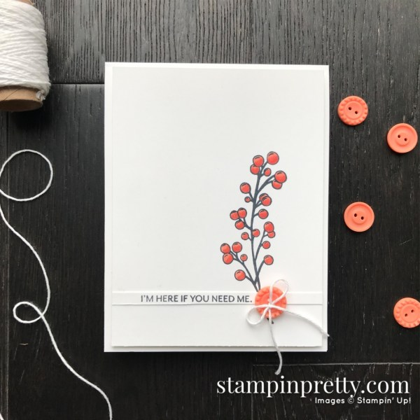 Frosted Foliage Stamp Set from Stampin' Up! Card by Mary Fish, Stampin' Pretty