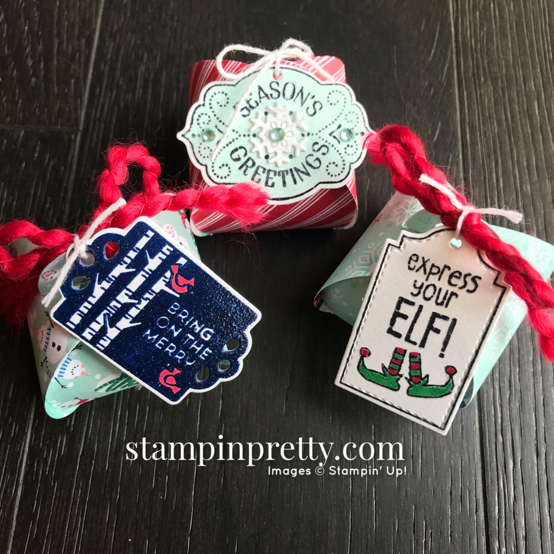 Tags Tags Tags & Mini Curvy Keepsake Box from Stampin' Up! Trio by Mary Fish, Stampin' Pretty