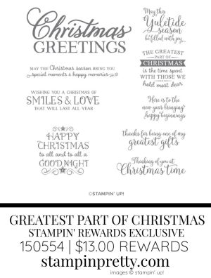 Greatest Part of Christmas Stampin' Rewards Exclusive Stamp Set 150536