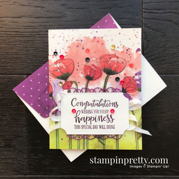 Peaceful Poppies Suite from Stampin' Up! 2020 Mini Catalog. Cards by Mary Fish, Stampin' Pretty Simple Monday Card(1)