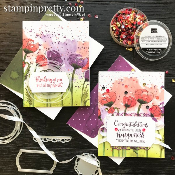 Peaceful Poppies Suite from Stampin' Up! 2020 Mini Catalog. Cards by Mary Fish, Stampin' Pretty(1)
