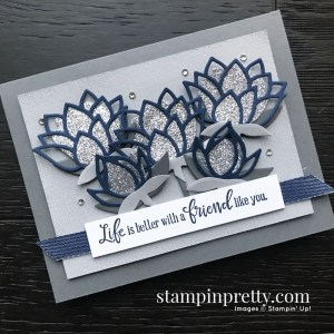 Lily Pad Dies 152315 Free with $100 Purchase - Stampin' Up! Sale-A-Bration, Card by Mary Fish, Stampin' Pretty_Card
