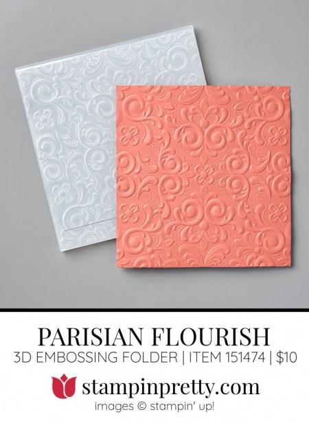 Parisian Flourish 3D Embossing Folder