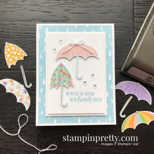Under My Umbrella Bundle Product Coordination from Stampin' Up! Card by Mary Fish, Stampin' Pretty