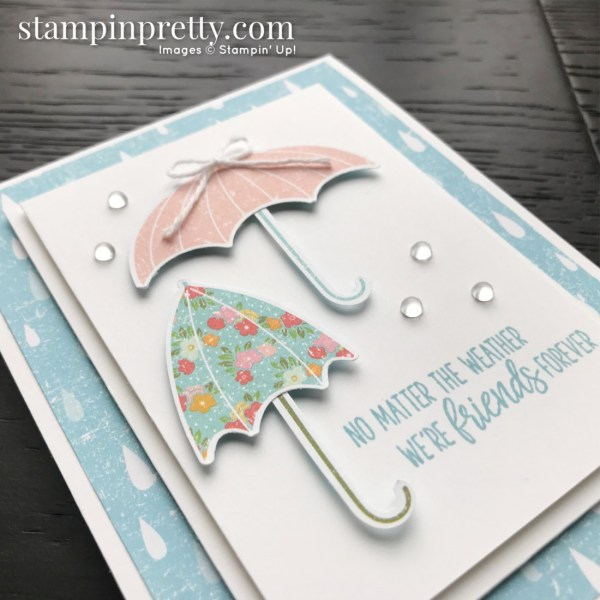 Under My Umbrella Bundle from Stampin' Up! Card created by Mary Fish, Stampin' Pretty Slant