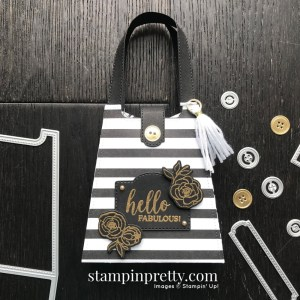 Hello Fabulous Golden Honey Purse. Product by Stampin' Up! Purse created by Mary Fish, Stampin' Pretty
