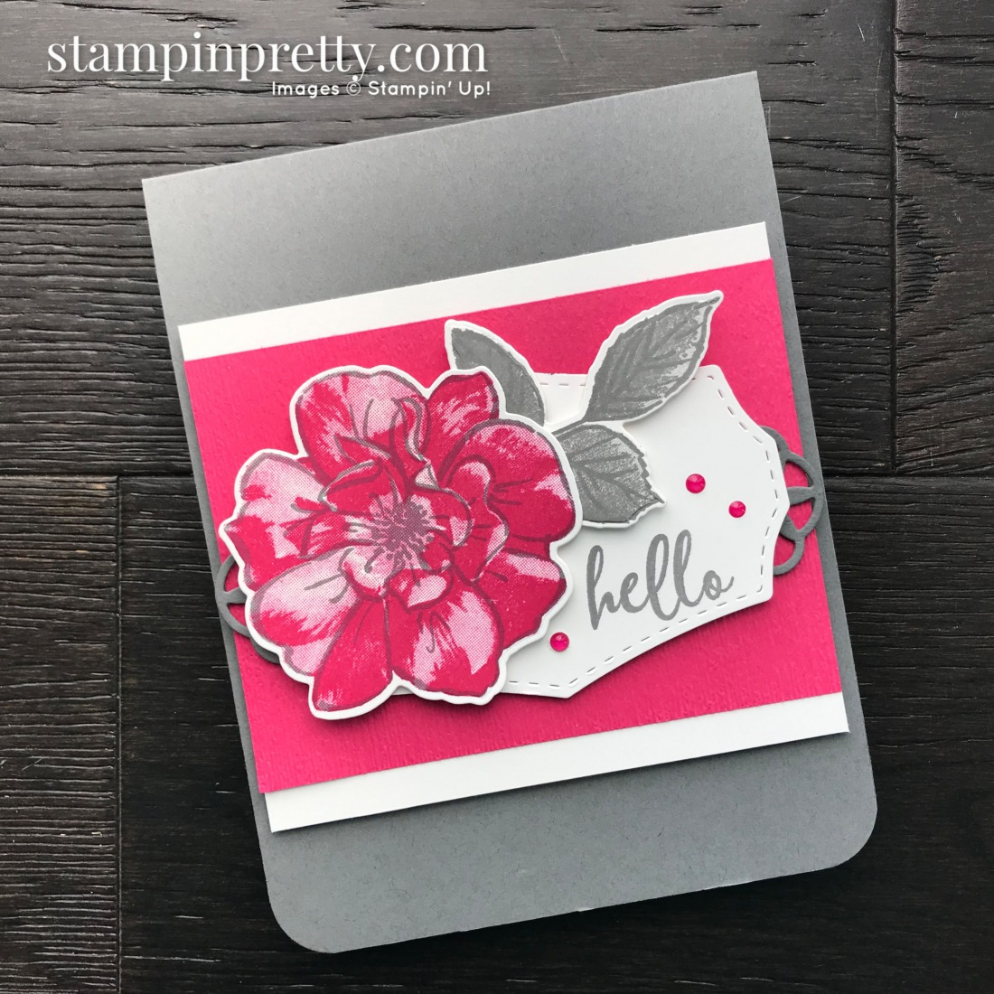 To A Wild Rose Stamp Set and Wild Rose Dies from Stampin' Up! Card by Mary Fish, Stampin' Pretty