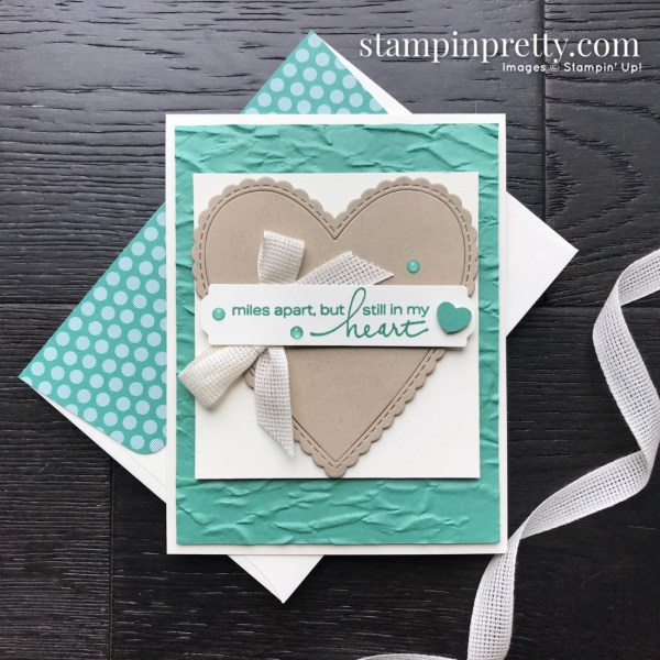 Create this card using the Lovely You Bundle from Stampin' Up! Card created by Mary Fish, Stampin' Pretty