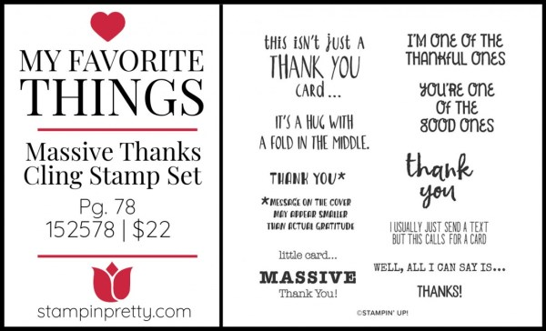My Favorite Things - Massive Thanks Stamp SetMy Favorite Things - Massive Thanks Stamp Set