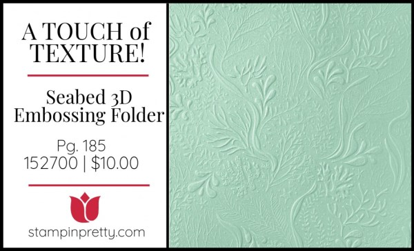 Seabed 3D Embossing Folder 152700 from Stampin' UP!