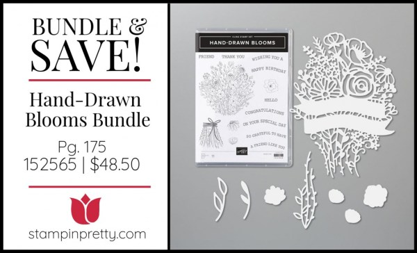 Bundle & Save Hand-Drawn Blooms Bundle 152565 $48.50 from Stampin' UP!