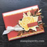 Create this card using the Forever Gold Laser-Cut Specialty Paper from Stampin