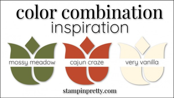 Color Combinations Cajun Craze, Mossy Meadow, Very Vanilla