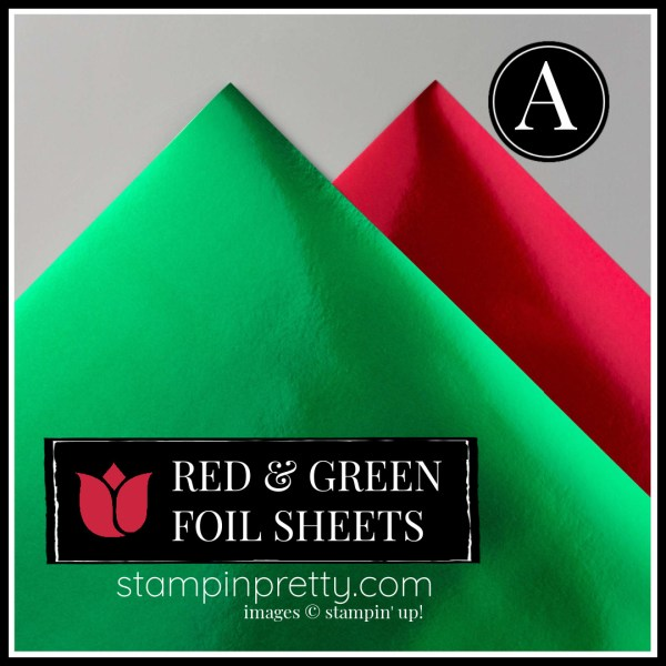 Red and Green Foil Sheets 153510 Option A