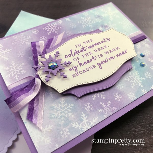 Snowflake Splendor Suite Collection from Stampin' Up! Friend Card by Mary Fish, Stampin' Pretty