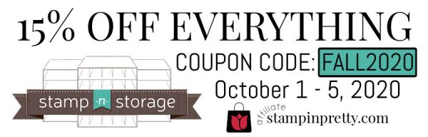 15% Off Stamp n Storage Fall Sale with Coupon