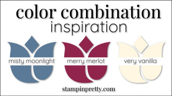 Color Combinations Misty Moonlight, Merry Merlot, Very Vanilla