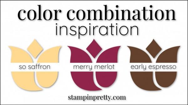 Color Combinations So Saffron, Merry Merlot, Early Espresso