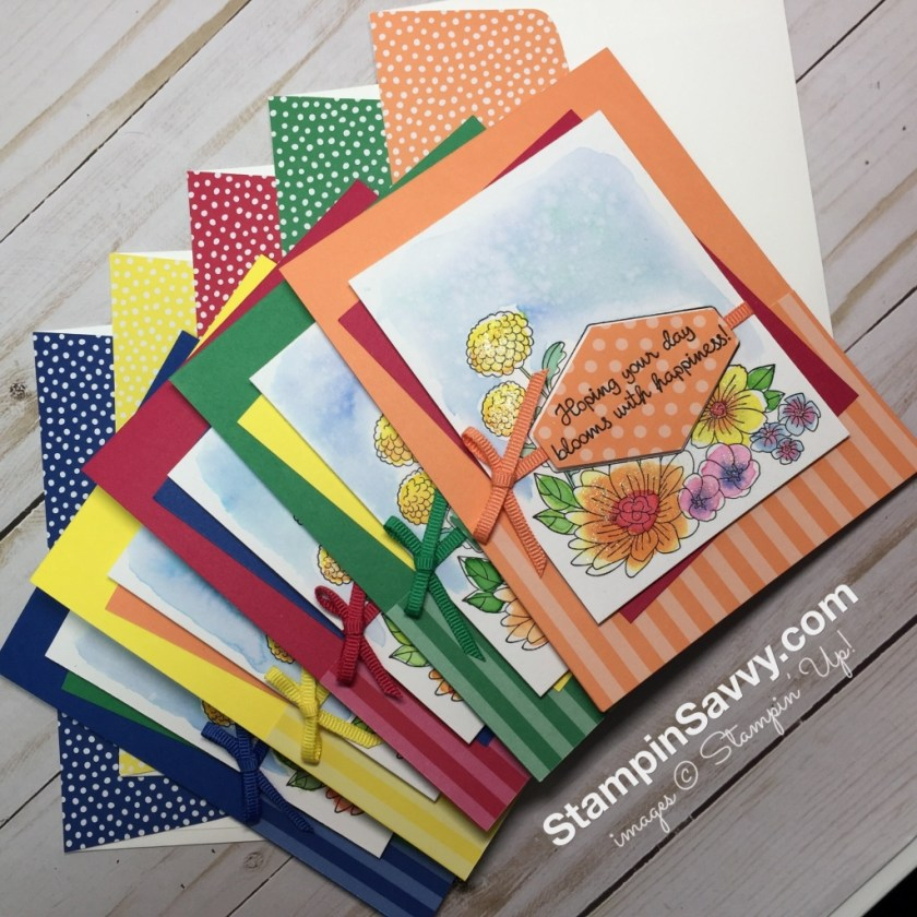 easy watercolor cards ideas accented blooms 2018-2020 in colors stampin up stampinup stampin savvy stampinsavvy tammy beard