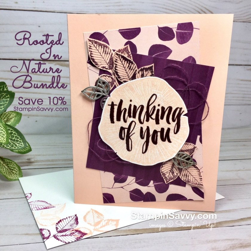 rooted in nature bundle front card ideas stampinup stampin up tammy beard stampin savvy stampinsavvy copy
