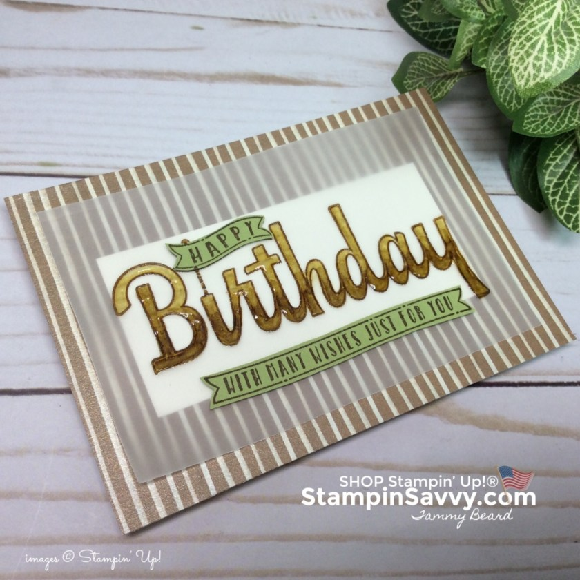 frosted floral card, masculine birthday card, frosted floral dsp, stampinup, stampinup, stampin savvy, tammy beard