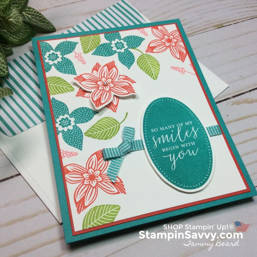 pop of petals, pop of petals bundle, poppy parade, granny apple green, bermuda bay, card ideas, stampin up, stampin savvy, stampinup, tammy beard
