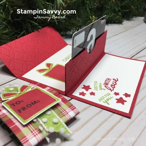pop up gift card holder, nothing sweeter, stampin up, stampin savvy, tammy beard