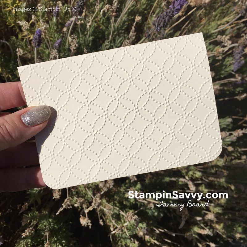 handmade-note-cards-embossed-quilt-top-embossing-folder-stampin-up-stampin-savvy-tammy-beard-stampinup