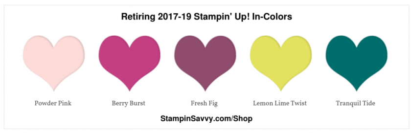 Retiring 2017-19 Stampin' Up! In-Colors