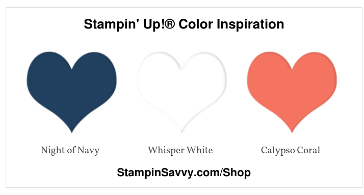 Color Inspiration: Navy, Coral & White