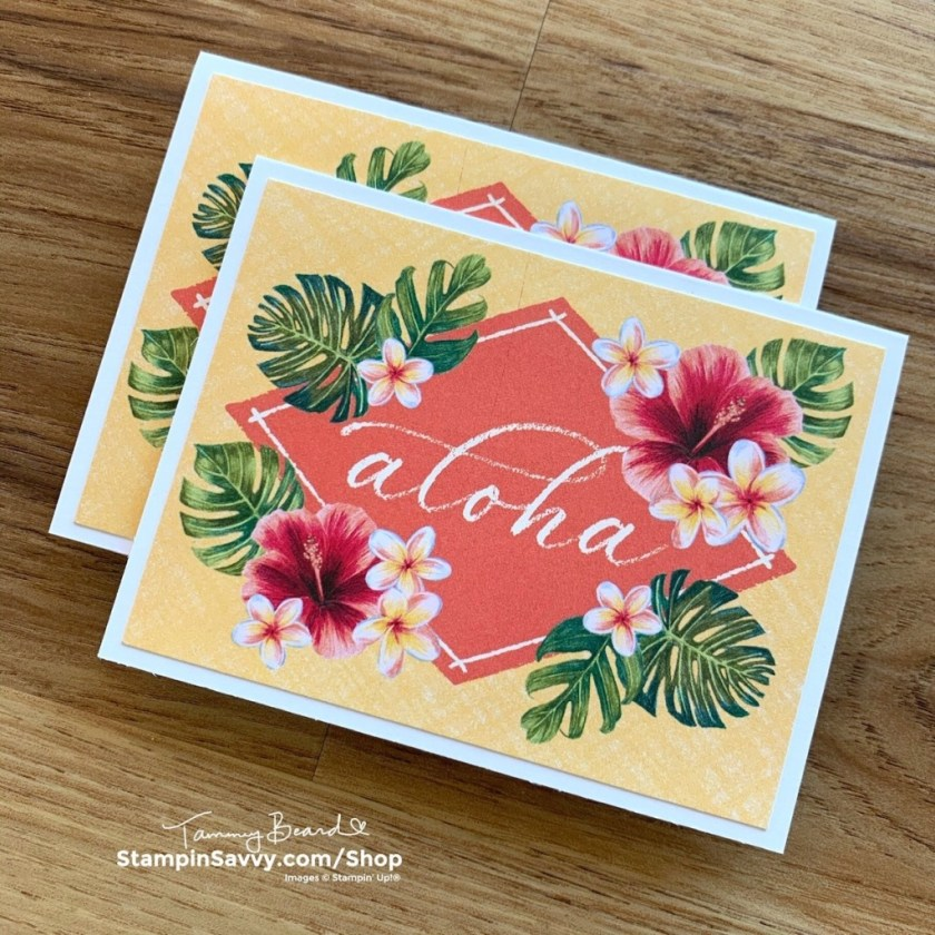 TROPICAL OASIS Memories & More Card Ideas Tammy Beard Stampin Savvy Stampin Up