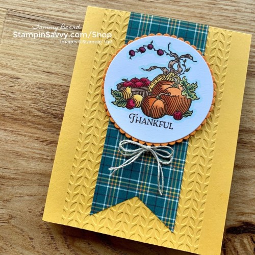 AUTUMN-GOODNESS-PLAID-TIDINGS-TAMMY-BEARD-STAMPIN-SAVVY
