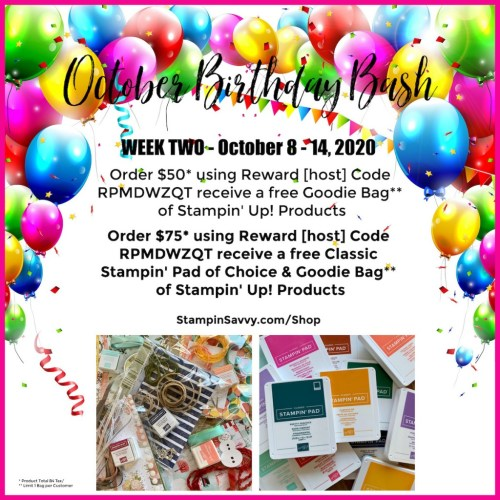 October Birthday Bash 2020 Week 2 Oct 8-14, 2020
