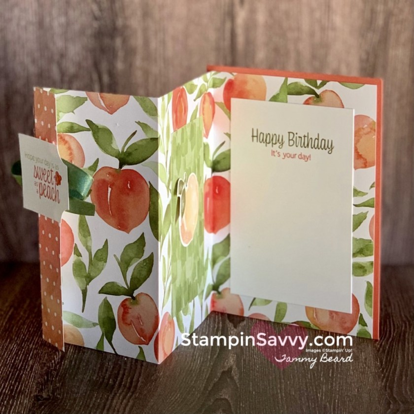 YOURE-A-PEACH-FUN-FOLD-BIRTHDAY-CARD-TAMMY-BEARD-STAMPIN-SAVVY-1