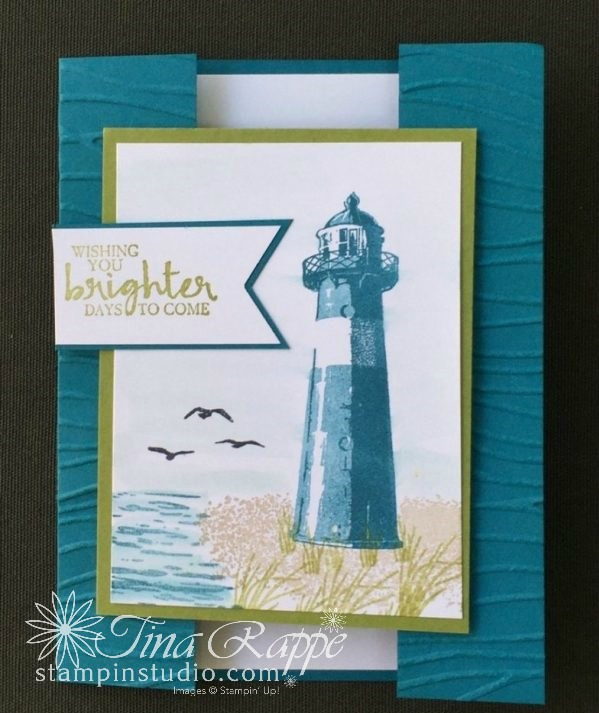 Stampin' Up! High Tide stamp set, Occasions Catalog 2017, Thinking of You card, Stampin' Studio
