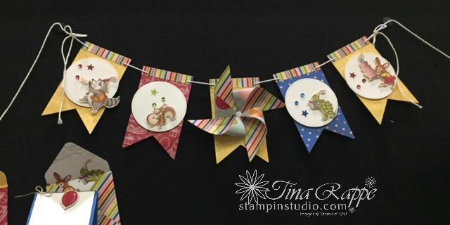 Stampin' Up! Birthday Memories Suite, Birthday Delivery stamp set, Birthday Friends Framelits, Birthday Memories Designer Series Paper, Stampin' Studio